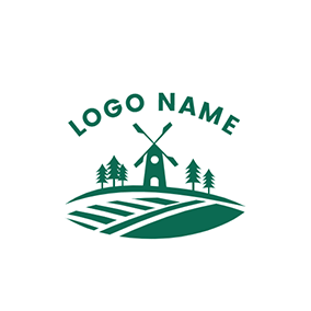 Ranch and Windmill logo design