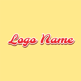 Random and Scratchy Red Font Style logo design