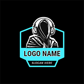 Rapper Hooded Man logo design