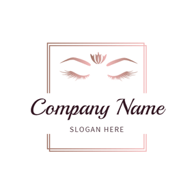 Rectangle Seraphic Eyebrow and Eyelash logo design