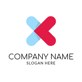 Red and Blue Medicine logo design