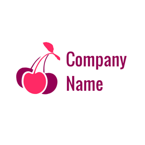 Red and Purple Cherry logo design