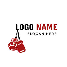 Red and White Boxing Glove logo design