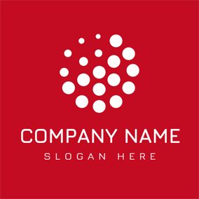 Red and White Circle logo design