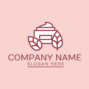Red and White Cosmetic logo design