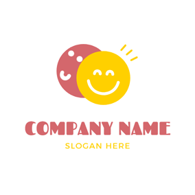 Red and Yellow Smile Face logo design