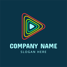 Red and Yellow Triangle logo design
