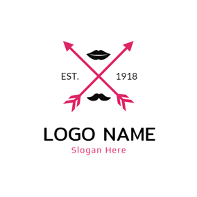 Red Arrow and Black Lip logo design
