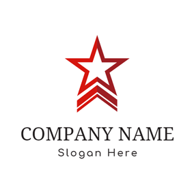 Red Banner and Star logo design