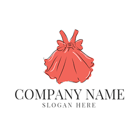 Red Bowknot and Petticoat logo design