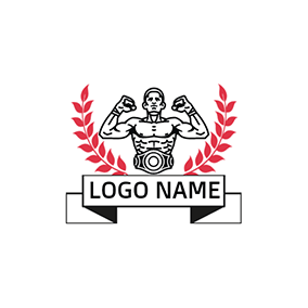 Red Branch and Boxing Champion logo design