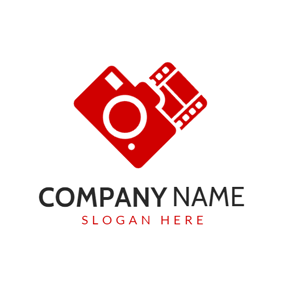 Red Camera and Film logo design