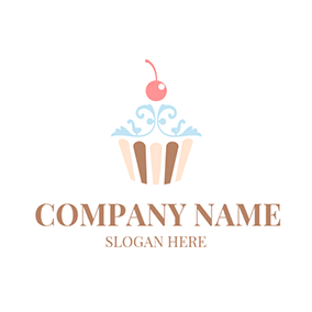Red Cherry and Special Cupcake logo design