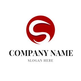 Red Circle and Letter S logo design