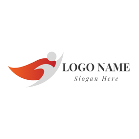 Red Cloak and Little Superman logo design