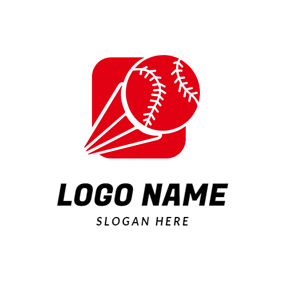 Red Decoration and Baseball logo design