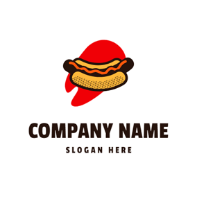Red Decoration and Hot Dog logo design