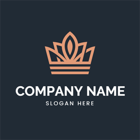 Red Elegant Royal Crown logo design