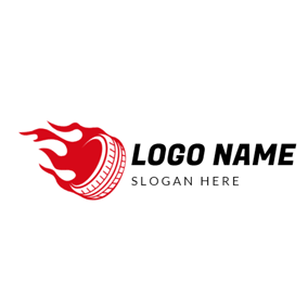 Red Fire and Vehicle Wheel logo design