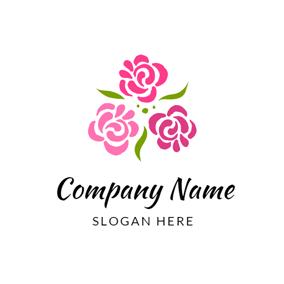 Red Flower And Garden Logo Design