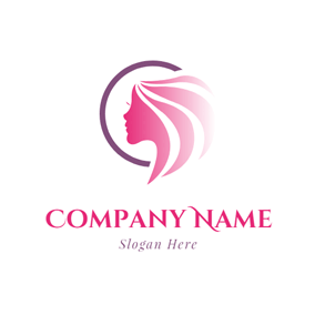 Red Hair and Female Head logo design