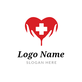 Red Heart and Nurse logo design