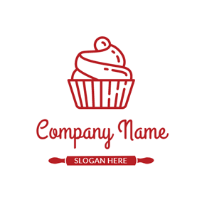 Red Ice Cream logo design