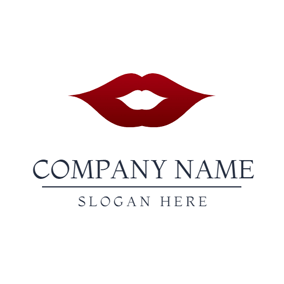 Red Lip and Fashion Brand logo design