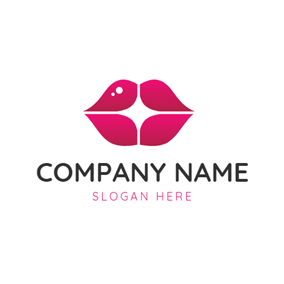 Red Lipstick and Make Up logo design