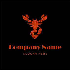 Red Scorpion Icon logo design