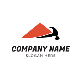 Red Shape and Black Hammer logo design