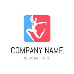 Red Square and Dancing Girl logo design
