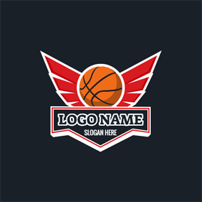 Red Wing and Basketball logo design