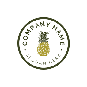 Regular Circle and Visual Pineapple logo design