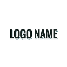 Regular Simple Shadow Font logo design