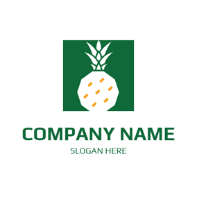 Regular Square and Simple Pineapple logo design