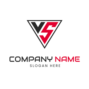 Regular Triangle Letter V and S logo design