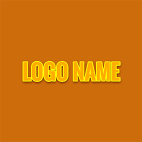 Regular Wide Orange Cool Text logo design