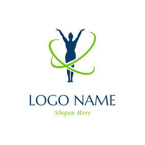 Ribbon and Rhythmic Gymnastics logo design