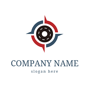 Road and Compass logo design