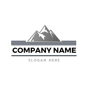 Road and Mountain logo design