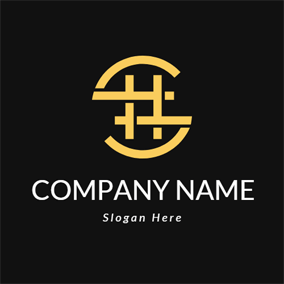 S Shape and Hashtag logo design