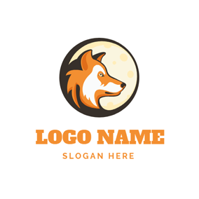 Sadly Wolf Head Icon logo design