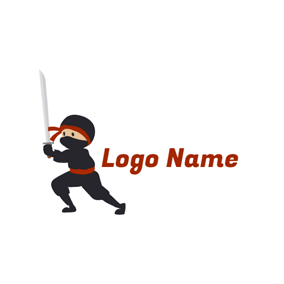 Samurai and Anime Icon logo design