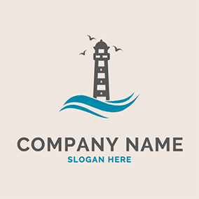 Sea Mew Sea Lighthouse Coast logo design