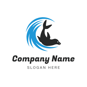 Sea Water and Seal logo design