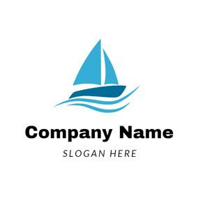 Seagoing Fishing Ship logo design