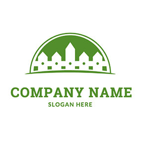Semicircle Lawn and Fence logo design