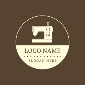 b2d47b9b81d4e0 ... Sewing Machine and Clothing Brand logo design