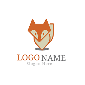 Shadow and Fox Head Icon logo design